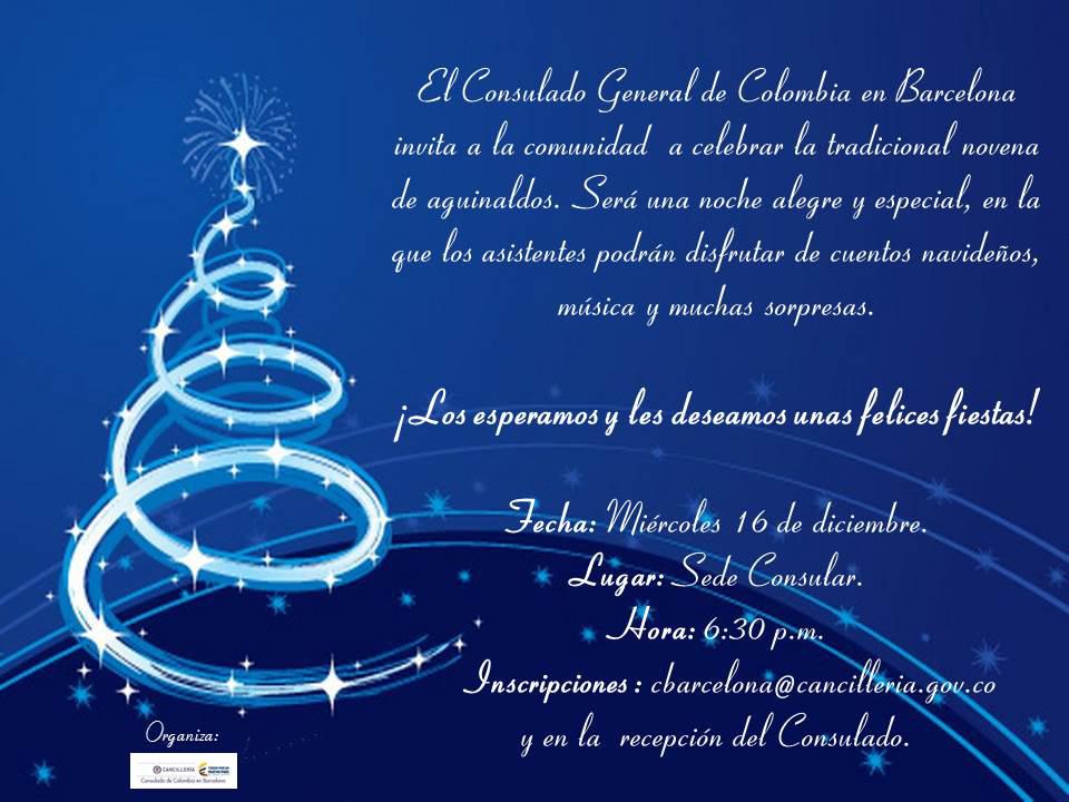 El Consulado De Colombia Invita A Celebrar La Tradicional